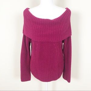 Express Red Chunky Sweater